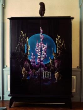armoire violine aux stalagmites
